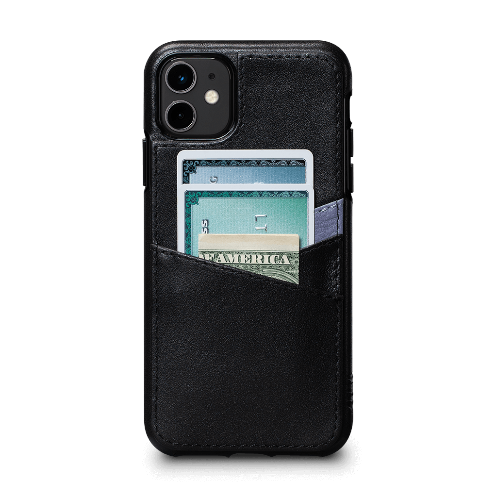 Lugano Wallet Case for iPhone 11 (Black/Periwinkle)