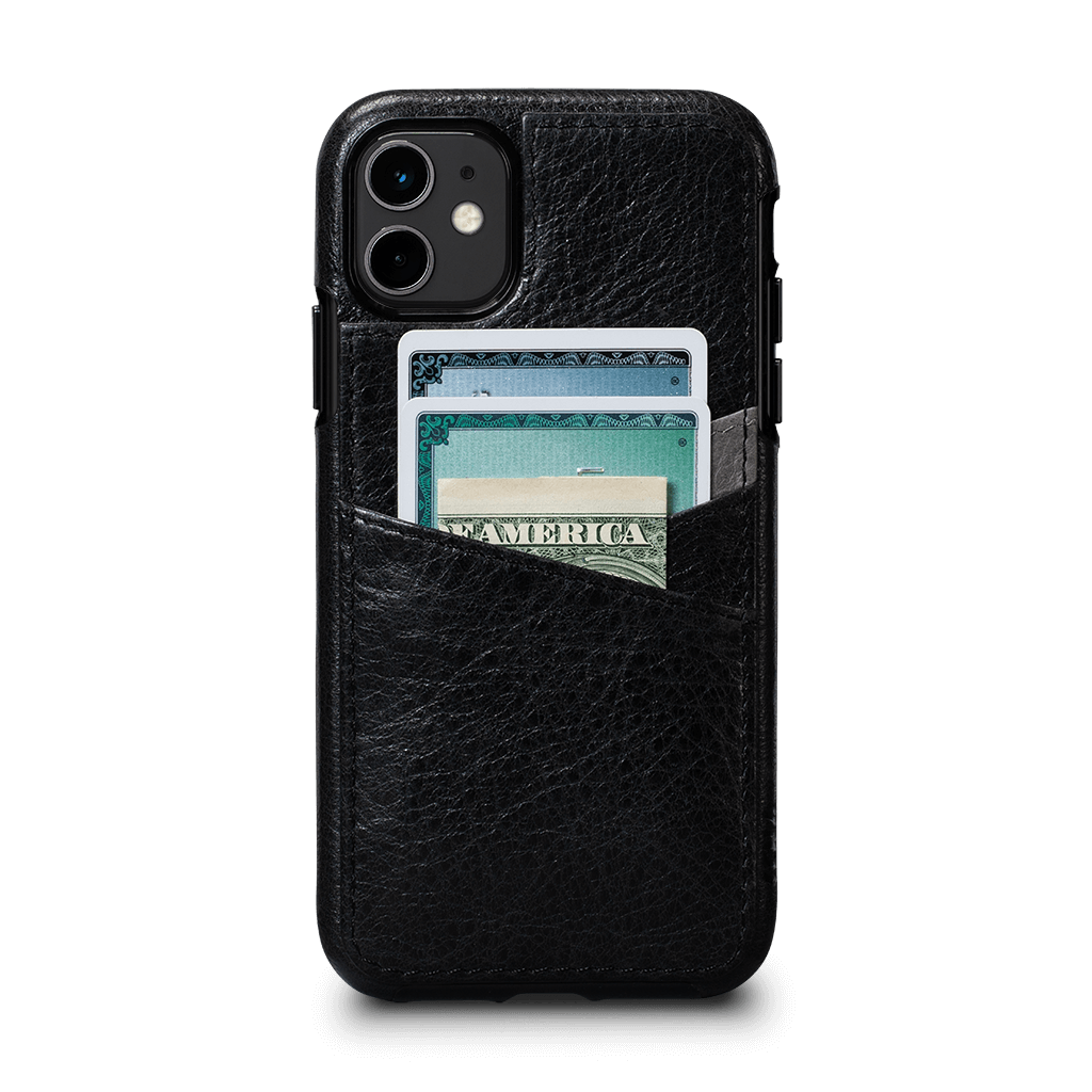 Lugano Wallet Case for iPhone 11 (Black/Gray)