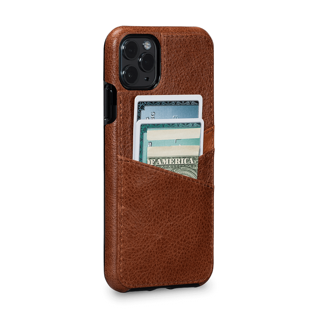Lugano Wallet Case for iPhone 11 Pro Max (Cognac/Apricot)