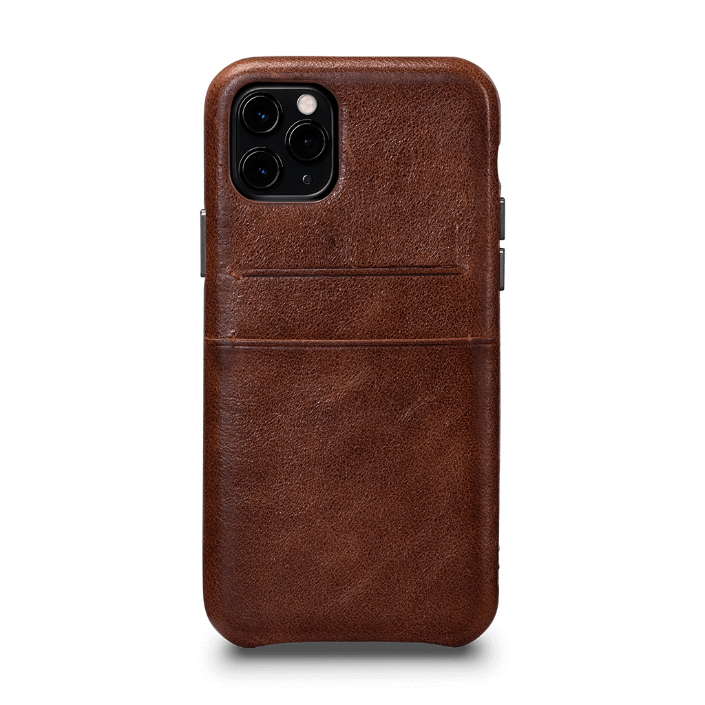 Snap On Wallet  Case for iPhone 11 Pro (Cognac)