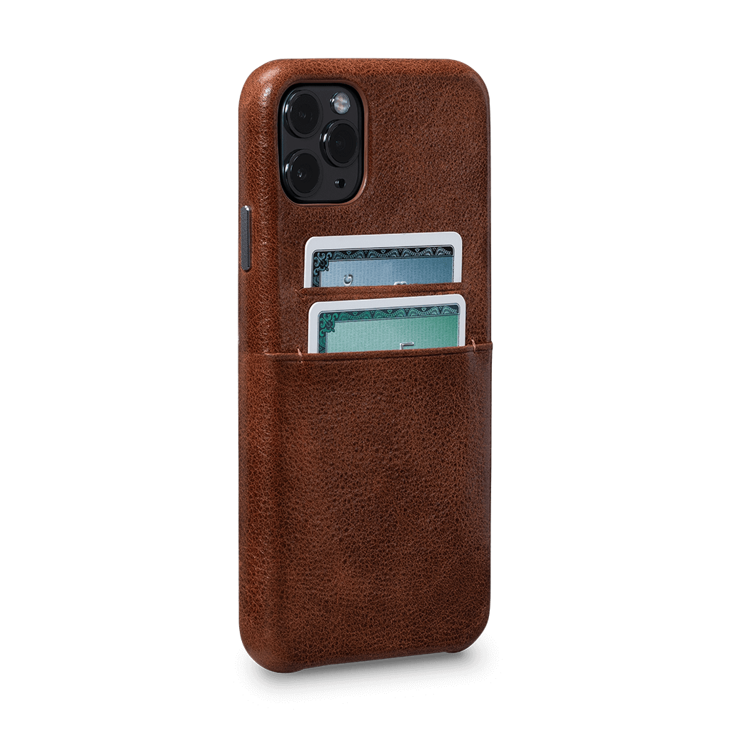 Snap On Wallet  Case for iPhone 11 Pro Max (Cognac)