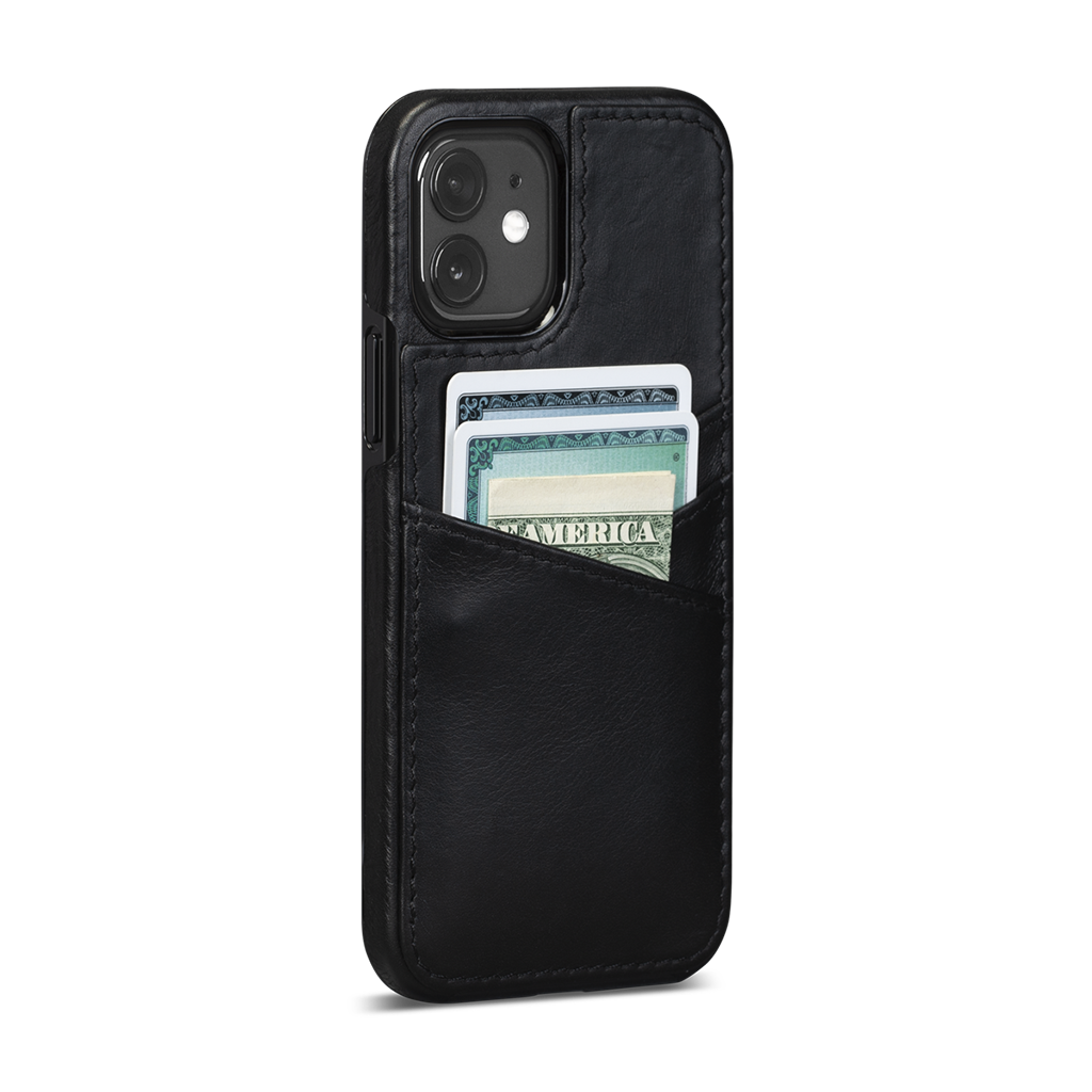 Lugano Wallet For iPhone 12 / iPhone 12 Pro (Black)