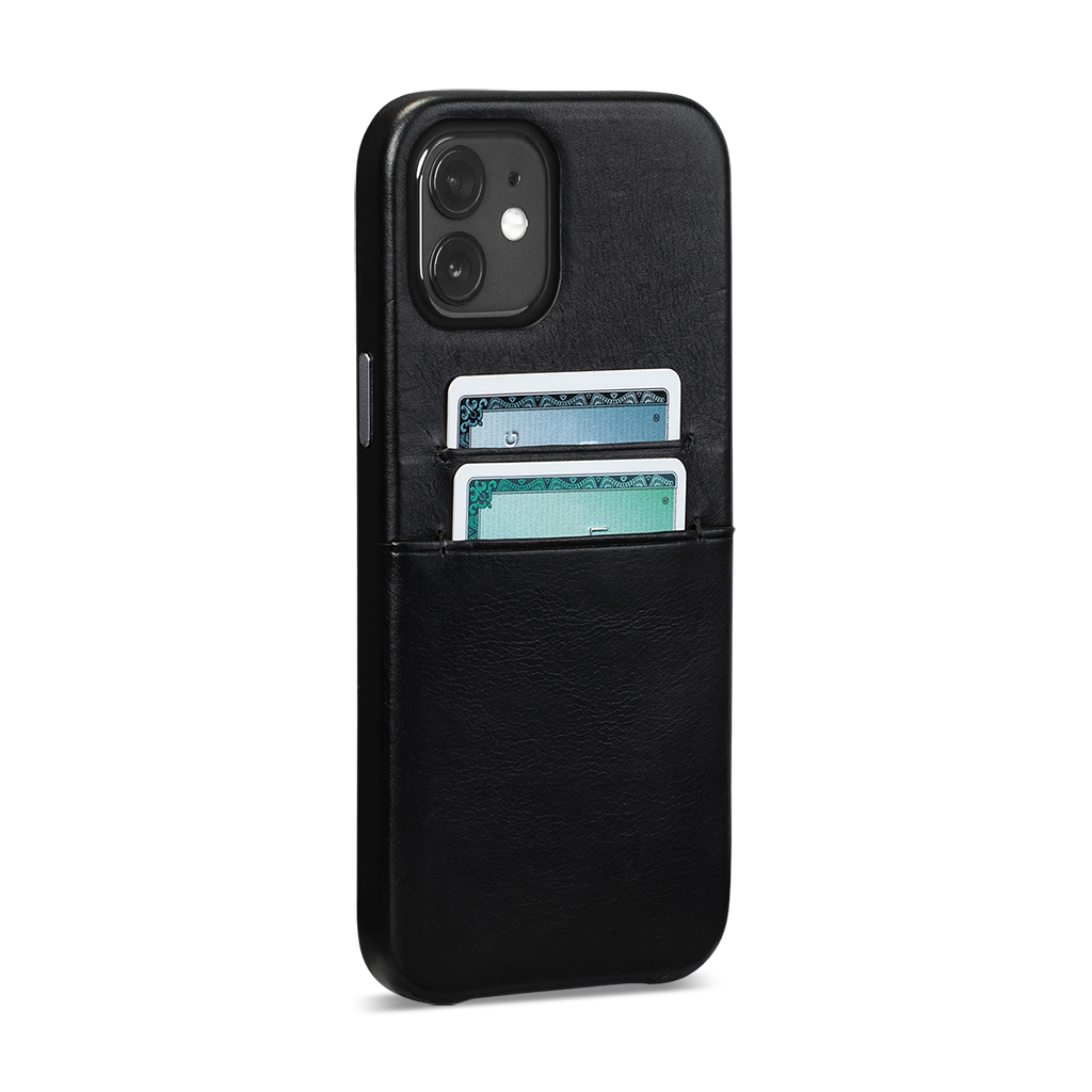 Snap On Wallet For iPhone 12 Mini (Black)