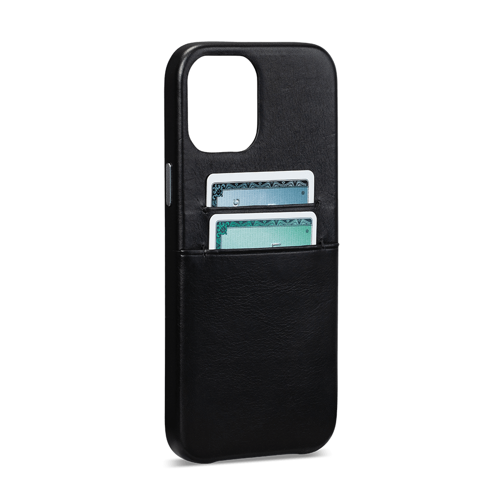 Snap On Wallet For iPhone 12 Pro Max (Black)