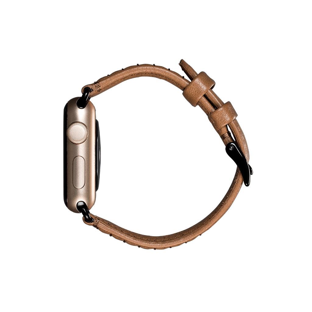 Isa Leather Watch Band for Apple Watch 38mm / 40mm (Caramel)