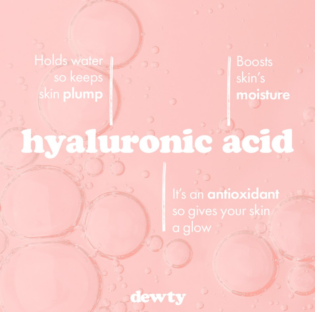 Why did we put hyaluronic acid in Dewty?