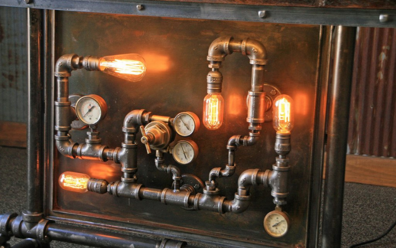 steampunk pipes decoration