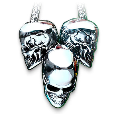 3 Skull Necklace