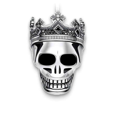 Crown (Silver) Skull Necklace