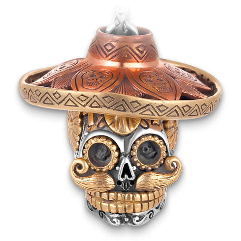 The Sombrero Killer (Silver) Skull Necklace