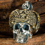 Russian Hat (Silver) Skull Necklace