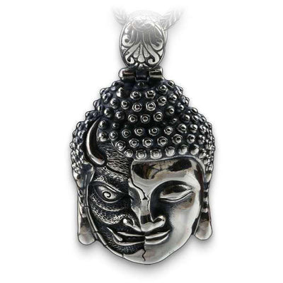 Buddha (Silver) Skull Necklace