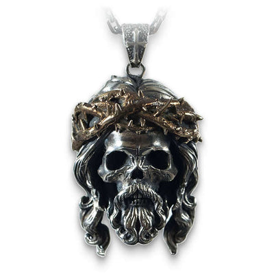 Jesus (Silver) Skull Necklace