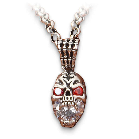 Rocker (Silver) Skull Necklace