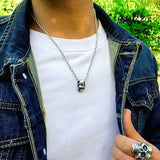 First Man (Silver) Skull Necklace