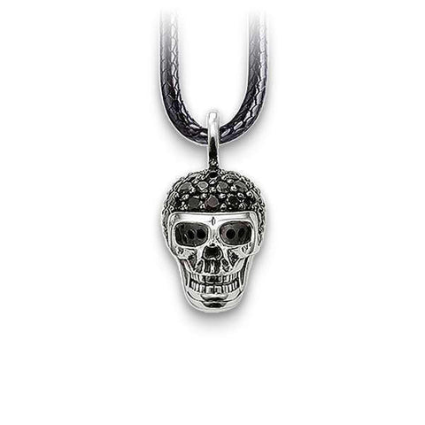 Black Diamond (Silver) Skull Necklace