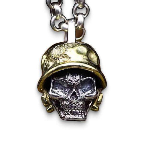Army (Silver) Skull Necklace