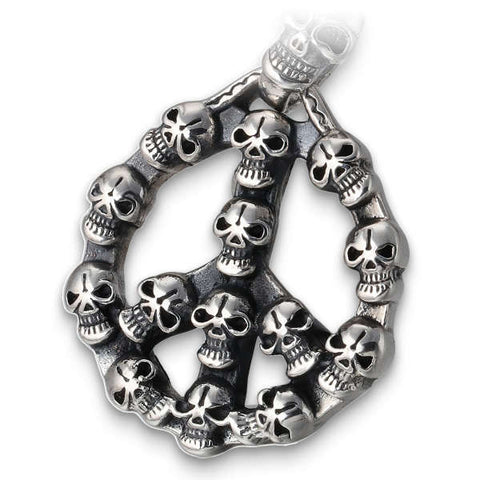 Peace (Silver) Skull Necklace