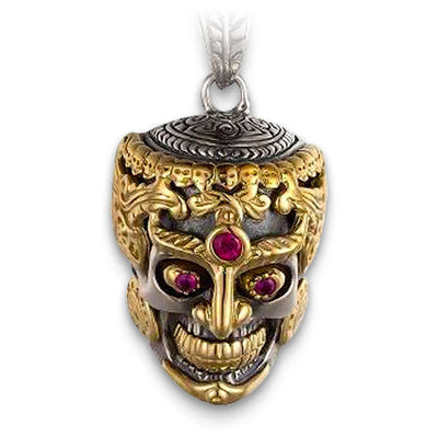 Inca Destiny (Silver) Skull Necklace