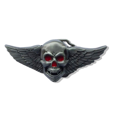 Angels Skull Biker Belt Buckle | Unholy Skull