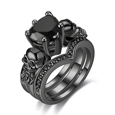 Black Skull Ring Women's