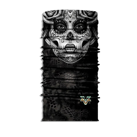 Day Of The Dead Skull Bandana