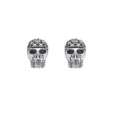 Diamond Skull Earrings