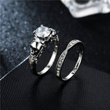 Diamond Skull Ring Women's