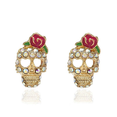 Girly Skull Earrings
