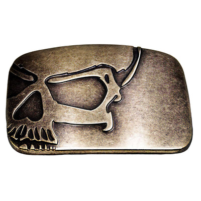 Gold Skull Belt Buckle