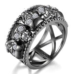 Ladies Silver Skull Ring