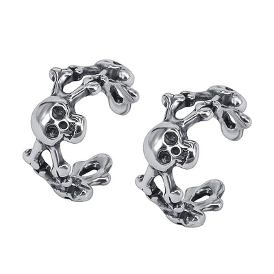 Mens Skull Hoop Earrings