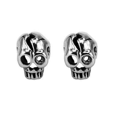 Mens Skull Stud Earrings