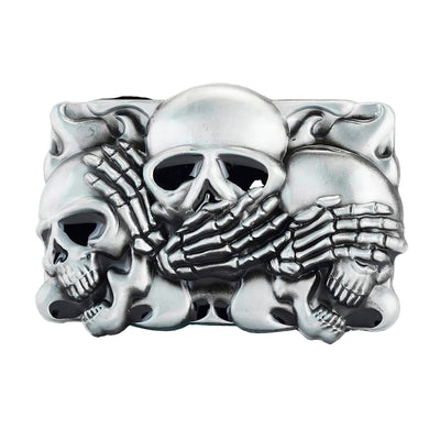 Metal Skull Belt Buckle | Unholy Skull