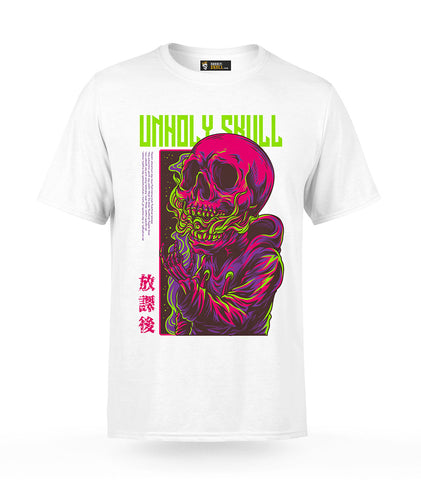 Smoking Skull T-Shirt | Unholy Skull