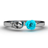 Rose Skull Ring for Women