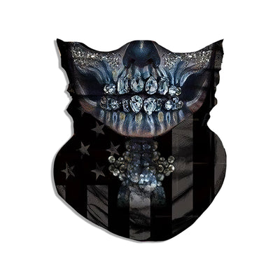 Skull With American Flag Bandana