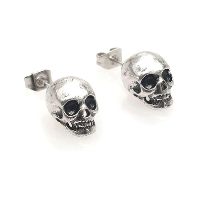 Small Skull Stud Earrings