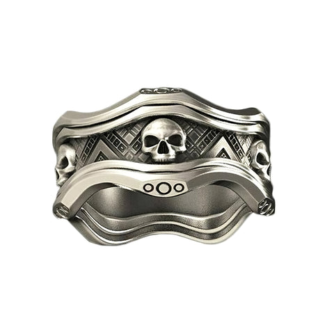 Women's Skull Signet Ring