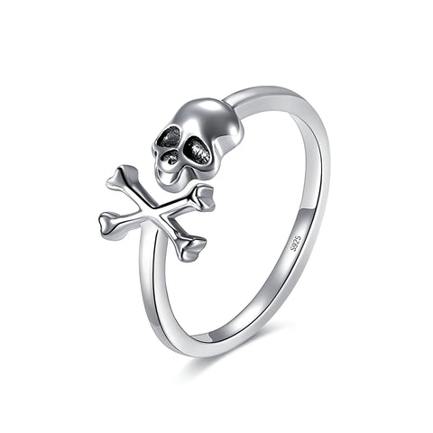 Women's Sterling Silver Skull Ring