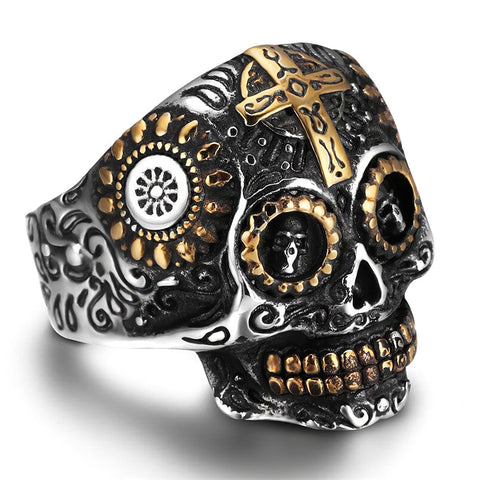 Women's Sugar Skull Ring
