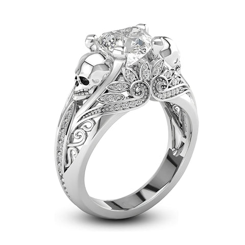 Women's White Skeleton Ring