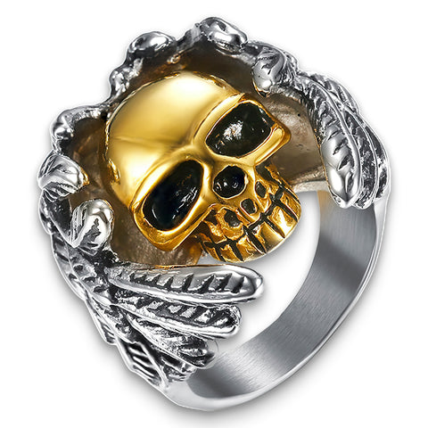 Angel Skull Ring