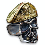 Army Officer Skull Ring
