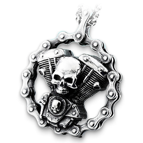 Biker Skull Necklace