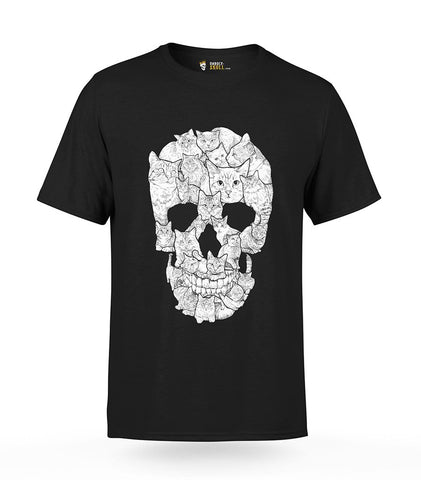 Cat Skull T-Shirt | Unholy Skull