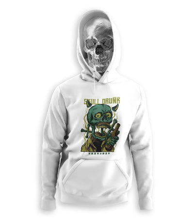 Drunk Skull Hoodies