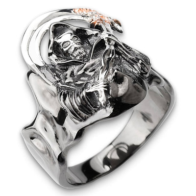 Grim Reaper Silver Ring