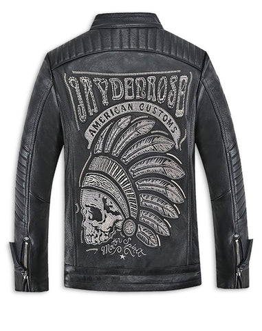 Indian Motorcycle Skull Leather Jacket