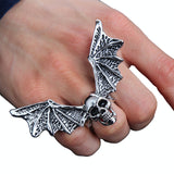 Men Ring Skull with Wings